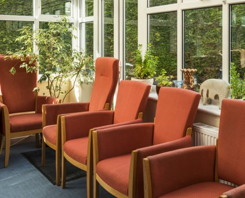 Communal space at Fourways Residential House Nursing Home in Sandhurst, Berkshire