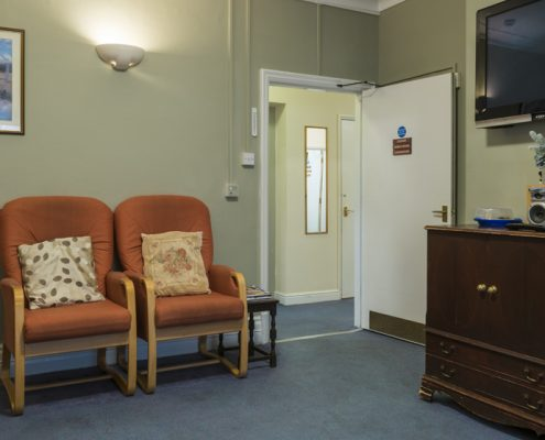 Living room at Fourways Residential House Nursing Home in Sandhurst, Berkshire
