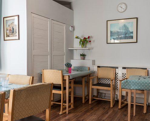 Dining space at Haldane House Nursing Home in Sandhurst, Berkshire