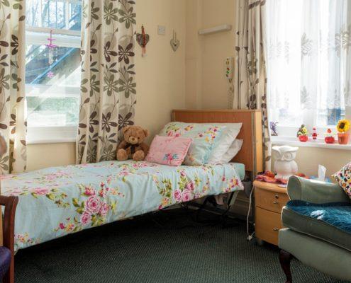 Bedroom at Haldane House Nursing Home in Sandhurst, Berkshire