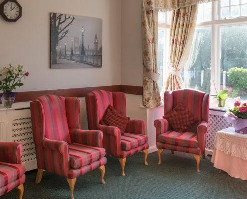 Communal Room Haldane House Nursing Home in Sandhurst, Berkshire