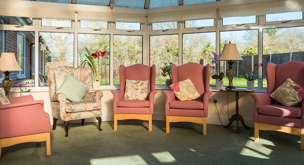 Conservatory at Longlea House Nursing Home in Maidenhead, Berkshire