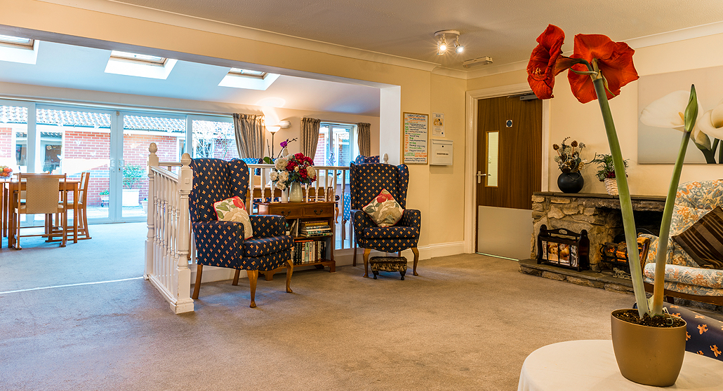 Open plan Living Room at Longlea House Nursing Home in Maidenhead, Berkshire